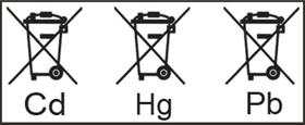 Symbole zur Schadstoffkennzeichnung an Batterien