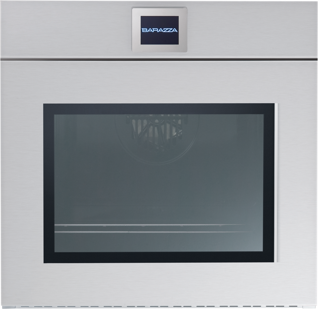 Barazza Velvet Touch Screen Einbaubackofen 1FVLT Multiprogramm Plus - Edelstahlfront manuelle KLAPPTÜRE mit GRIFF 60 cm
