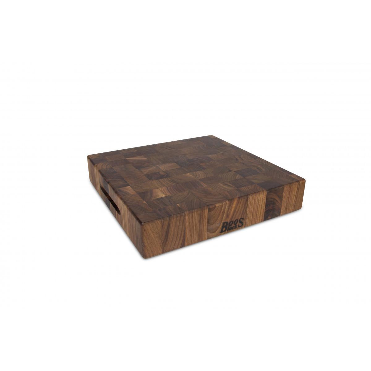 Boos Blocks Black Walnut Hackblock 38x38x7,5 cm / Walnuss-Stirnholz