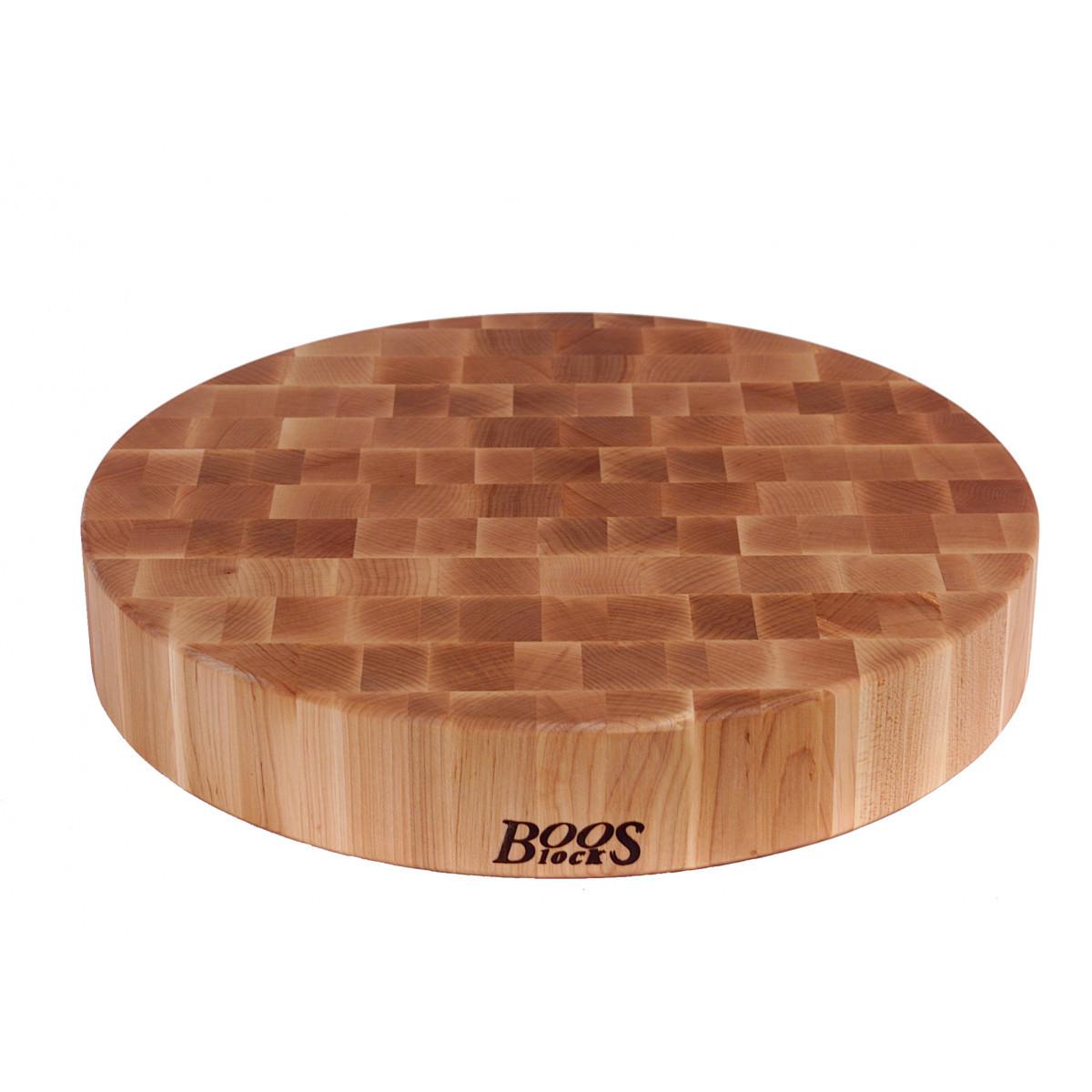 Boos Blocks Prep Blocks runder Hackblock 46 cm / Ahorn-Stirnholz