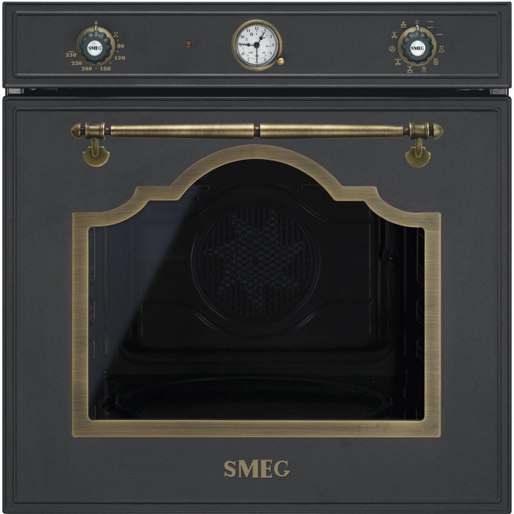 Smeg · SF750AO · Einbaubackofen · Antik-Design · 60cm · Anthrazit-Messing
