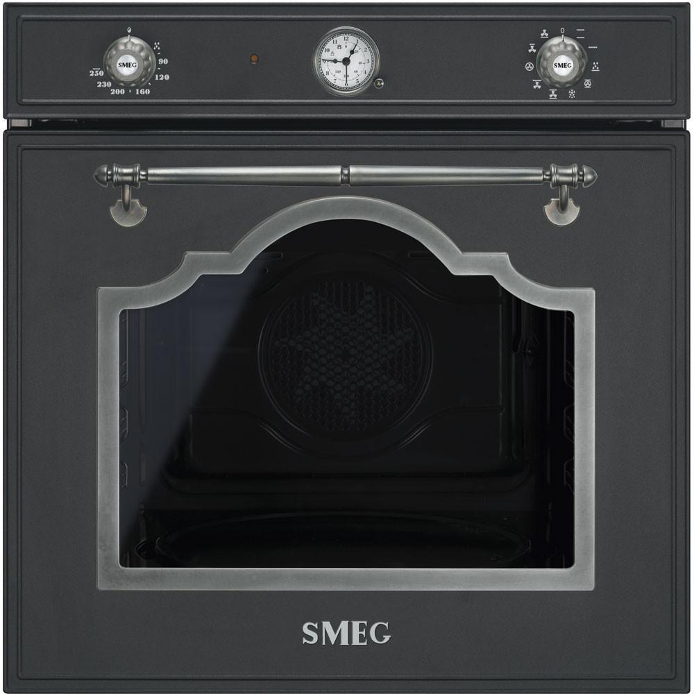 Smeg · SF750AS · Einbaubackofen · Anthrazit-Silber Antik · 60cm · Anthrazit