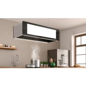 Berbel · BDL95SK · Deckenlifthaube Skyline · 95 cm Breite · Grundversion mit Liftfunktion, Edelstahl Deckenplatte, LED Kochfeldbeleuchtung, und Effektbeleuchtung