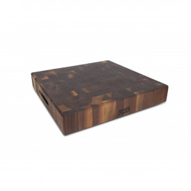 Boos Blocks Black Walnut Hackblock 46x46x7,5 cm / Walnuss-Stirnholz