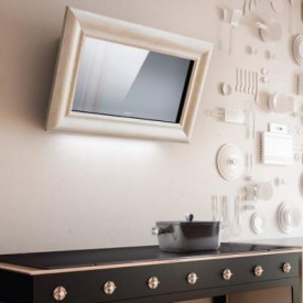 ELICA AMELIE Wandhaube Kopffrei 85 cm weißes Holz, EEK A