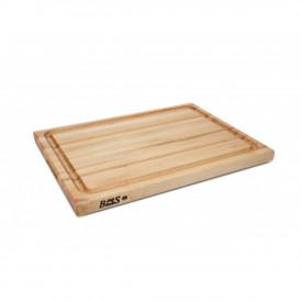 Boos Blocks Pro Chef-Groove Schneidebrett 51x38x4 cm mit Saftrille / Ahorn-Langholz