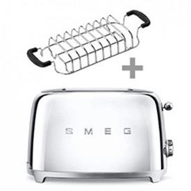 Smeg · SMEG 50's Retro Style  ·  Toaster Retro 2 Scheiben   +   SMEG  · Brötchen-Röstaufsatz · Brothalter BUNDLE