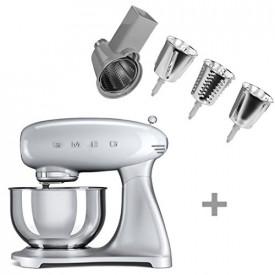 Smeg · SMEG 50's Retro Style  ·  4,8 L - Küchenmaschine   +   SMEG  · Gemüse-Schneide-Set · SMSG01 BUNDLE