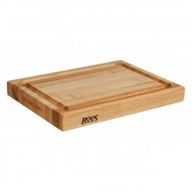 Boos Blocks Pro Chef-Groove Schneidebrett 51x38x6 cm mit Saftrille / Ahorn-Langholz