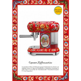Smeg ECF01DGEU Espresso Kaffeemaschine im Dolce & Gabbana Design