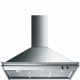 Smeg ·  KD90XE · Classici Design · Dekor-Kaminwandhaube 90 cm · Edelstahl