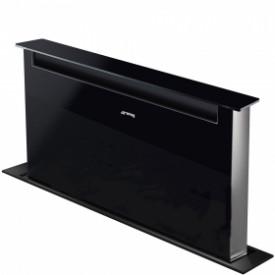 Smeg · KSDD90VN · Designlinie Dolce Stil Novo · Downdraft-Muldenlüfter 90 cm · Schwarzglas/Edelstahl