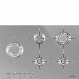 Smeg · PXL675L · Designlinie Dolce Stil Novo · Einbau-Gaskochmulde · 75 cm Edelstahlmulde