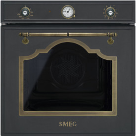 Smeg · SF750AO · Einbaubackofen · Antik-Design · 60cm · Anthrazit-Messing