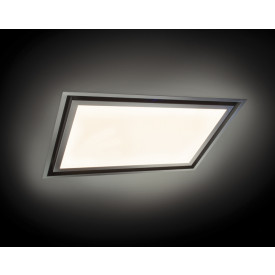 O+F A-Line SUN LAG 120SU60-850 Design Deckenhaube mit LED Panel dimmbar 120 x 60 cm  weiß-edelstahl
