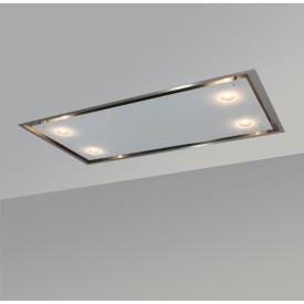 O+F A-Line Luna cielo Deckenhaube LAG120LU60-816 im Format 120 x 60 cm - Edelstahl-Glas