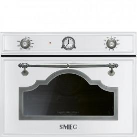 Smeg · SF4750VCBS1 · Einbau-Kompakt-Dampfbackofen ·  45cm · Weiss-Silber Antik