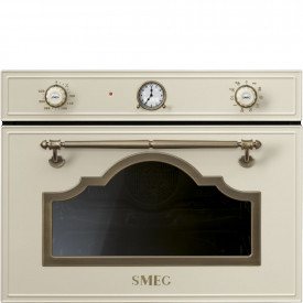 Smeg · SF4750MCPO · Einbau-Kompakt-Mikrowellenbackofen ·  45cm · Creme-Messing Antik