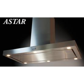 O+F A-Line Astar 120 cm Premium Inselhaube LED EBM-EC-Pabst Edelstahl