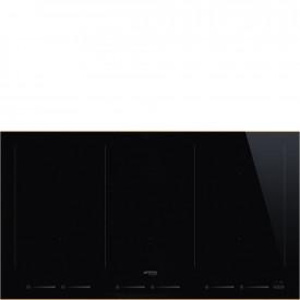 Smeg · SIM693WLDR · Einbau-Induktionskochfeld · Schwarze Glaskeramik · 90 cm