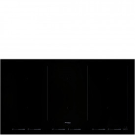 Smeg · SIM693WLDX · Einbau-Induktionskochfeld · Schwarze Glaskeramik · 90 cm