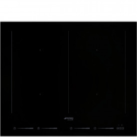 Smeg · SIM662WLDX · Einbau-Induktionskochfeld · Schwarze Glaskeramik · 60 cm