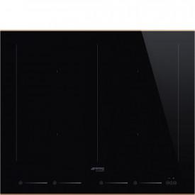 Smeg · SIM662WLDR · Einbau-Induktionskochfeld · Schwarze Glaskeramik · 60 cm