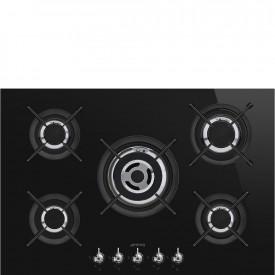 Smeg · PV375CNDE · Einbau-Gaskochmulde · Schwarze Glaskeramik · 75 cm