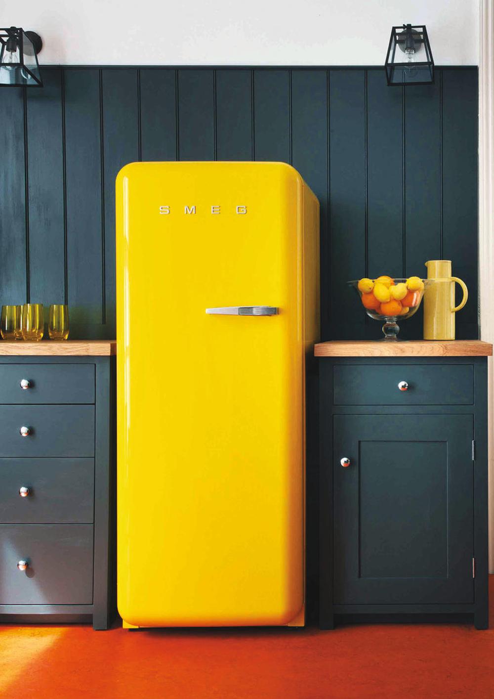 Der Smeg Retro-Kühlschrank