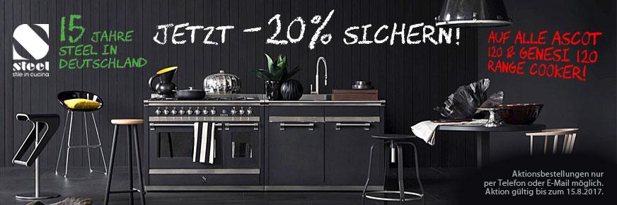 20 Prozent Rabatt auf alle Steel Ascot und Genesi 120